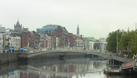 View from O'Connell Bridge in Dublin