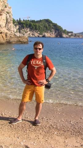 Stone beach in Dubrovnik