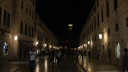 Old City's main thoroughfare at night