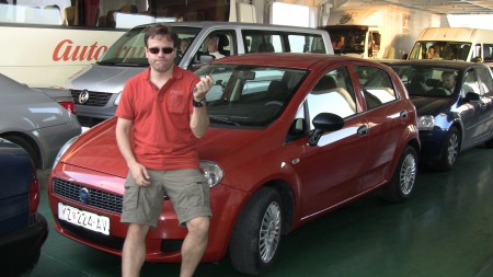 Our little Punto rental car