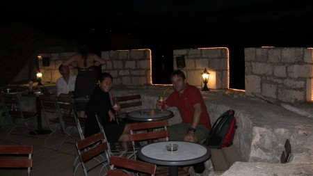 Bar on turret at Korcula