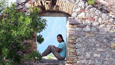 Fran chilling at ruins