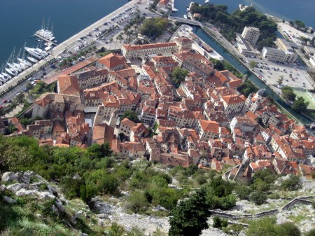 Kotor Old City from above.