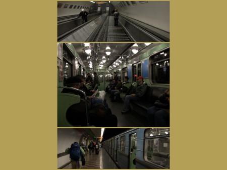 Budapest Underground collage